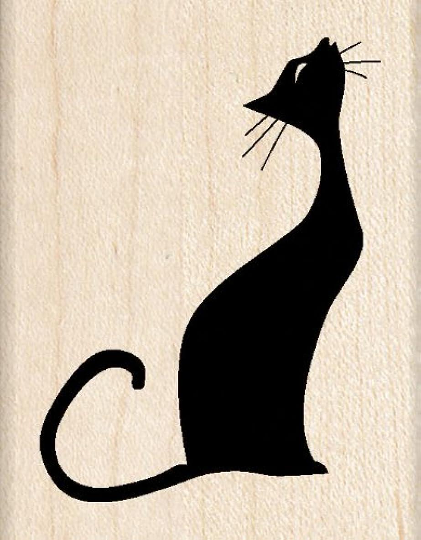 Inkadinkado Musical Cat Wood Stamp for Scrapbooking, 1.75'' W x 2.25'' L