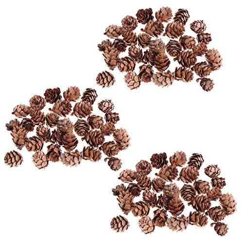 Fenteer 90 Pièces Mini Véritables Pommes de Pin Naturelles pour Fabrication de Bijoux Colliers Bracelets