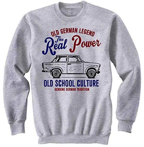 Teesandengines Men\'s Trabant 601 2 Grey Sweatshirt Size XLarge