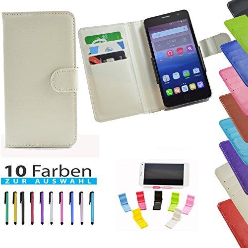 5 in 1 set ikracase Slide Hülle für Archos 50 Titanium 4G Smartphone Tasche Case Cover Schutzhülle Smartphone Etui in Weiß