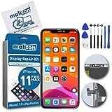 malison® Kit de réparation d'écran compatible avec iPhone 11 Pro MAX avec vitre en verre, écran LCD Retina liquide, écran tactile, kit d'outils inclus