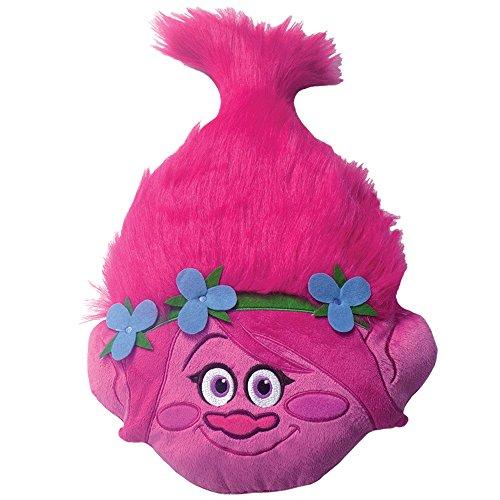 CTI Trolls Poppy Head 3D Kissen, Polyester, rosa, 54 x 33 x 11 cm