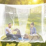 zapture Mosquito Net for Bed Canopy Portable Square Mosquito Net Camping Screen House Finest Holes...