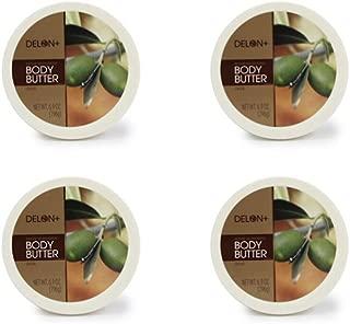 DELON Intense Moisturizing Olive Body Butter 6.9 Ounce 4 Pack
