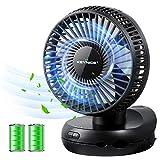 【2020年最新版】KEYNICE 扇風機 小型 卓上扇風機 首振り 静音 ミニ扇風機 静音 充電式扇風機 サーキュレーター USB扇風機 ミニファン 折りたたみ式 せんぷうき