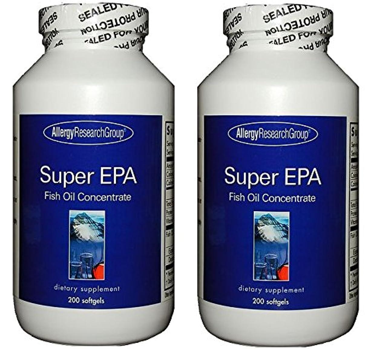 緩やかな生きるサンドイッチスーパーEPA & DHA  200ソフトカプセル (Super EPA Fish Oil Concentrate 200 softgels) [海外直送品] 2ボトル