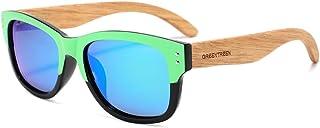fashion Zebra Wood polarized womens sunglasses Mens sunglasses with Black Polarized Lenses UV400...