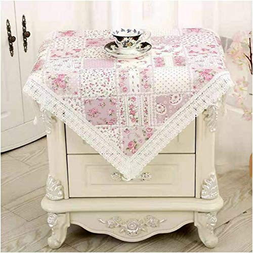 Bettop Tablecloth, Bedside Tablecloth, Bedside Tablecover,Bedside Table Dustcover,Bedside Tabletop Home Decoration,Table Covering Doilies for Furniture (Pastoral Purple)