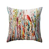 Win Bird Flower Throw Pillow Case 18x18 Inch Bed Sofa Living Room Decor Cushion Cover? - 1#