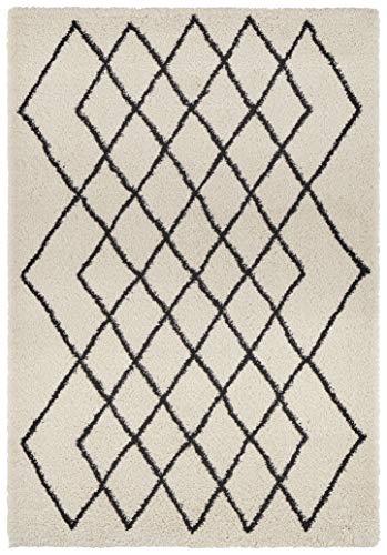 Mint Rugs Touch Alfombra, Polipropileno, Creme,Schwarz, 200 x 290 cm