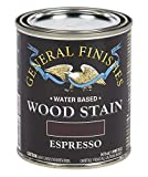 General Finishes Water Based Wood Stain, 1 Pint, Espresso