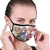 五等分の花嫁 中野五姉妹着物 再利用可能な洗える口マスク綿防塵ハーフフェイス口マスク用 超立体 通気性 花粉対策 水洗い可能 繰り返し使える 風邪 Pm2.5対応 男女兼用