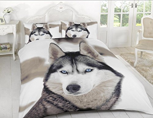3D Print Duvet Cover Set Single Double King Size Animal Print Duvet Bedding Set (Single, Wolf)