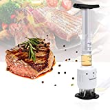 Meat Tenderizer, Profession 2 in 1 Sauce Meat Injector Health Meat Pine Needles Tools for Enhance the Flavor and 30 Stainless Steel Needles