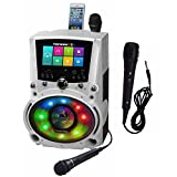 Complete WiFi Karaoke Machine with Apps for Playing Music from Online Sites with 7' Touch Screen Tablet (with Lyrics displayed)with Additional Microphone Karaoke USA WK760