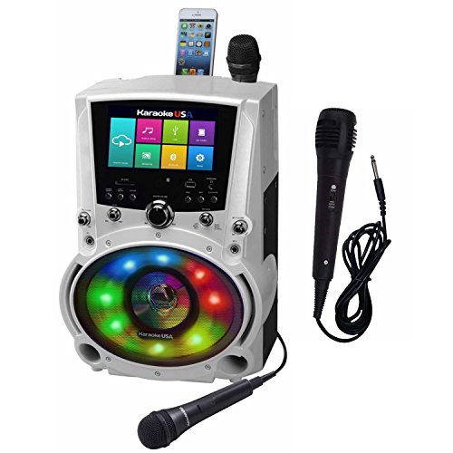 "Complete WiFi Karaoke Machine with Apps for Playing Music from Online Sites with 7"" Touch Screen Tablet (with Lyrics displayed) with Additional Microphone Karaoke USA WK760"