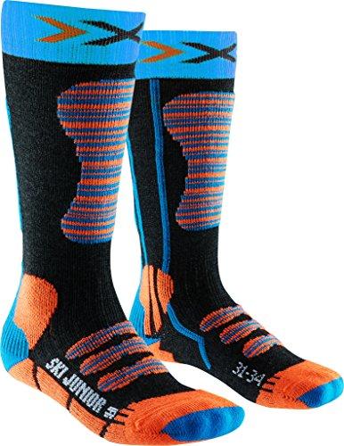 X-Socks Kinder SKI JUNIOR Strumpf, Turquoise/Orange, 27/30