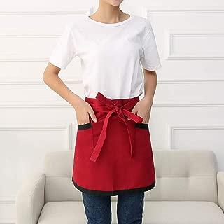 YXDZ Hotel Chef Apron Chinese and Western Bar Chain Waiter Waiter Half-Length Overalls Female Half Waist Red Black Side