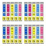 4 Go Inks Conjunto de 5 Cartuchos de Tinta para reemplazar Epson T0807 (C/M/Y/LC/LM) Compatible/Non-OEM para Epson Stylus Photo Impresoras (20 Tintas)