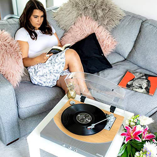 ION Audio Premier LP - Tocadiscos de vinilo Bluetooth, de 3 velocidades,...