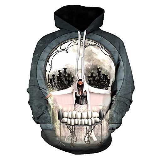 YLSMN 3D-Druck Paar Pullover mit Kapuze mit Kapuze Sweate L 3D Print Hoodie Outdoor Uniform Unisex Pullover mit Langen Ärmeln