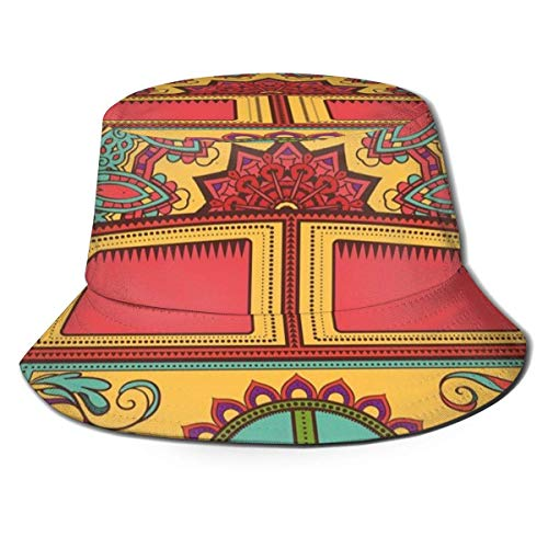 Yuanmeiju Unisex Cool Bucket Hat Beach Sun Hat Funny Hippie Vintage Mini Van Peace