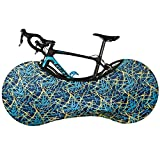 Funda de Protección Universal Bicicleta Funda Bicicleta Elasticidad Tela Escocesa Azul Impermeable y A Prueba de Polvo para Bicicleta de Montaña Bicicleta de Carreras Mantiene el Suelo Limpio