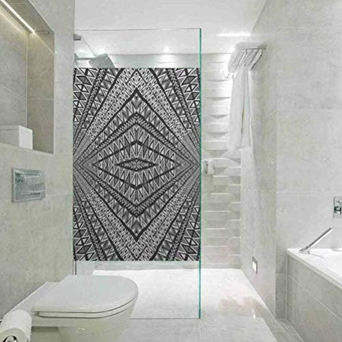 DIY Home Decoration Glass Stickers Window Folie, Psychedelic Triangle Diamond Form für Home Glass Film for Bathroom Meeting Living Ro, 60 cm B x 70 cm L Zoll