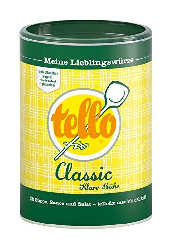 tellofix Classic Klare Brühe - Vielseitige Gemüse Brühe, als Universal-Würzmittel zum Verfeinern einsetzbar - kalorienarm - 1 x 220 g