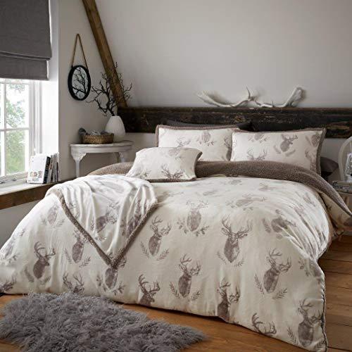 CT Murray - Funda de cojín (Forro Polar), diseño de Ciervo, Natural, Cushion Cover (45x45cm)