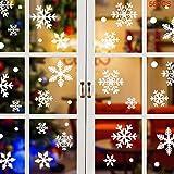 UMIPUBO Pegatinas de Ventana de Navidad 56PCS Pegatinas de Copo de Nieve Fabuloso Pegatinas Pared Estáticas de PVC para Navidad Decoraciones