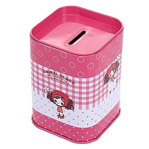 FVGBHNJ Banco Almacenamiento Contenedor Niños Dinero Saving Box TinPlance Caja Regalo Piggy Bank Moneda Regalo Hucha Bank Depósito de Almacenamiento