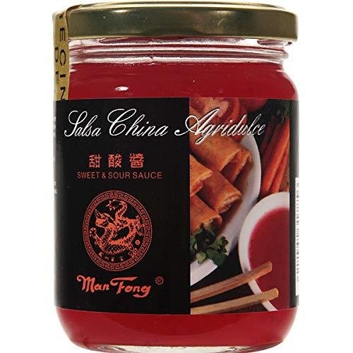 Man Fong- Salsa China Agridulce - Con Piña Triturada- Ideal para Darle un Sabor Exótico a tus Comidas - 235 ML
