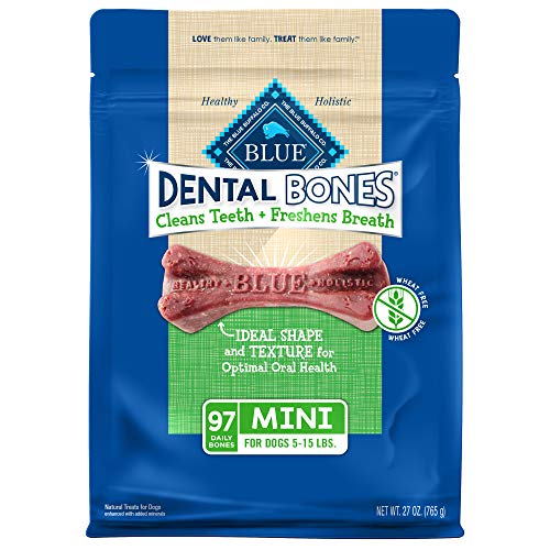 Blue Buffalo Dental Bones Mini Natural Dental Chew...