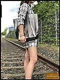 modamoda de - T163 - Ital. Shopper mit Innentasche aus Leder, Farbe:Rot - 5