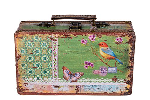 Sarah B Truhe Kiste KD 1290 Koffer, Kofferset, HolztruheSchatzkiste,Kiste, Piratenkiste, Kleinmöbel, Größe M 26cm