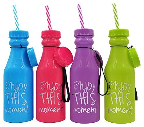 Lote de 24 Botellas Pvc'Enjoy' - Ideales para Detalles para Bodas, Regalos para Fiestas de Cumpleaños y Comuniones Niños y Niñas Originales.