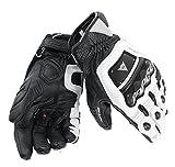 Dainese 4 Stroke Evo Men's Street Motorcycle Gloves - White/White/Black/Small