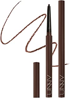 Unny Club Skinny S Slim Eyeliner Pencil All Day Waterproof Long Lasting Gel Soft Touch For Easy Drawing Vivid Color, Mocha Brown, 1 Count