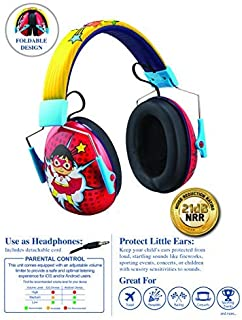 Ryans World Kids Ear Protectors Earmuffs Toddler Ear Protection and Headphones 2 in 1 Noise Reduction and Headphones for Kids Ultra Lightweight Adjustable Safe Sound Great for Concerts Shows and More