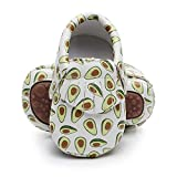 Bebila Cute Cartoon Baby Moccasins - Vegan Baby Girls Boys Shoes with Non-Skid Rubber Sole for First Walker Toddler Mermaid Printing (US 6M/5.12''/13cm 12-18Months, Model-4)