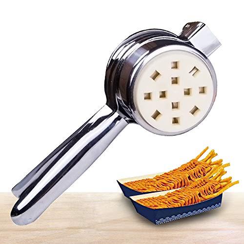 YJINGRUI Manuelle Pommespresse Pommespresse Fried Kartato Strips Squeezers 28 Zoll / 30 cm lang Pommesschneider Extruder für Haushalt/Gewerbe