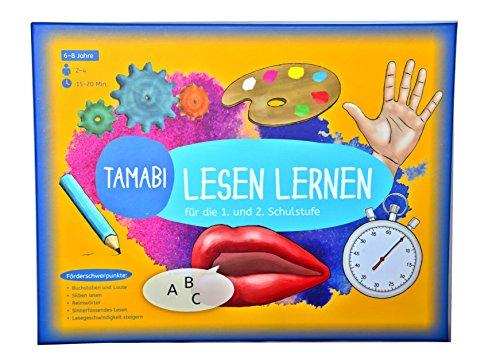 Spielerisches Lesetraining-Lesen lernen Spiel: Buchstaben lernen, Silben und erste Wörter lesen und mit Spaß flüssig lesen lernen, Lernspiele ab 6 Jahre, Lese-lern-Spiel für die 1. und 2. Klasse