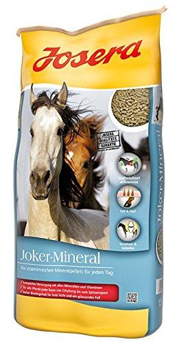 JOSERA Joker Mineral, Premium Pferdefutter mit Vitaminen und Mineralstoffen, Mineralfutter für Pferde, Ponys, Fohlen usw, 1er Pack (1 x 15 kg)