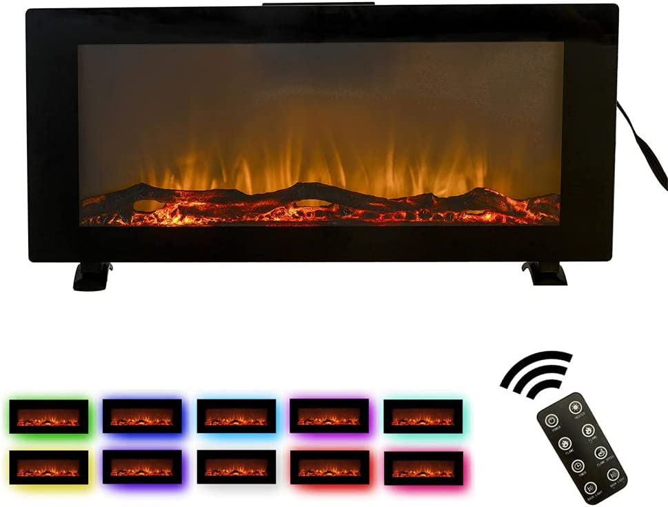42 Inch Electric New Free Shipping Fireplace Inserts with Timer Remote To Control Genuine Free Shipping