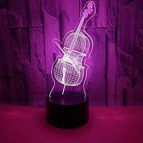 Anime Lampe Neue Violine 3D Beleuchtet Bunte Geschenke Nette 7 Farben-3D Beleuchtet Weihnachtsdekorations-Baby-Raum Beleuchtet Geschenk-Schlafzimmer-Lichter Anime Figuren