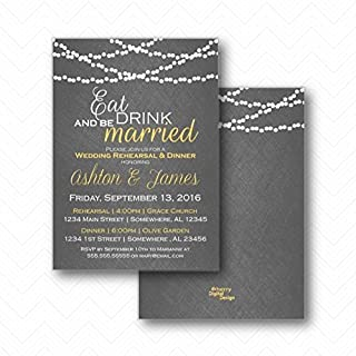 eat drink and be married rehearsal dinner invitations