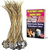 200mm lange KERZENDOCHTE von CozYours aus HANF und BIENENWACHS,100 Stück, organisch und natürlich, Kerzendochte für die Kerzenherstellung, inkl. E-Book für DIY Kerzen-Hacks