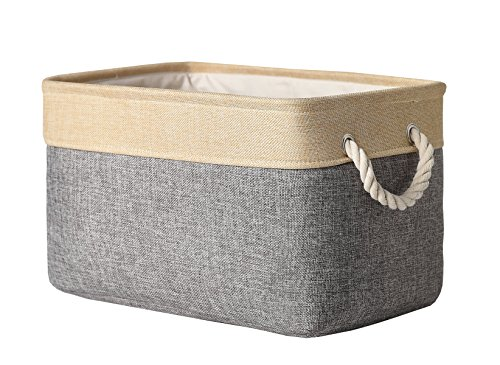 TheWarmHome Decorative Basket Rectangular Fabric Storage Bin Organizer Basket...