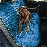 Kurgo Housse de siège de voiture pour chien, housse de siège pour animaux de compagnie, étanche, avec ancrages de siège, résistant aux rayures, réversible, Style Loft, bleu/gris